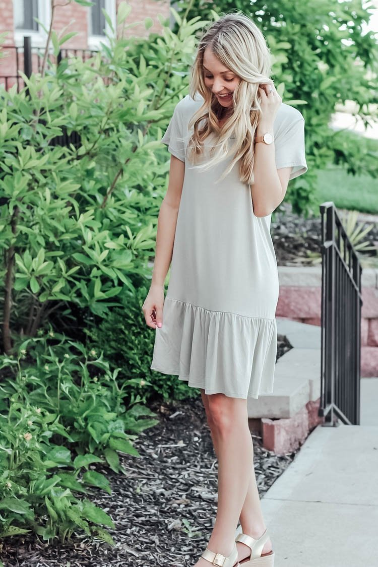 ruffle tee dress