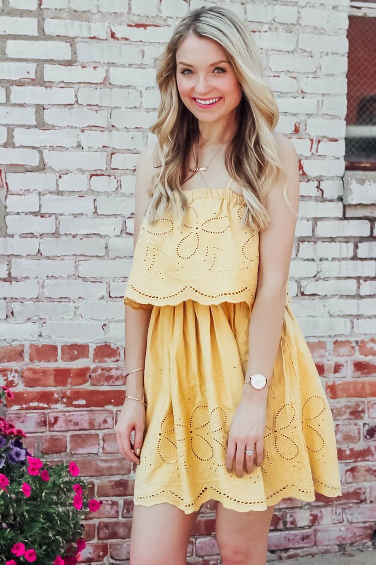 embroidered picnic dress
